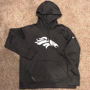 Gray Nike Denver Broncos Therma-Fit hoodie